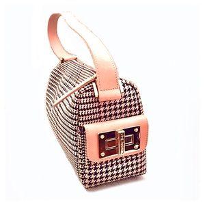 Lauren Ralph Lauren Houndstooth Bag w/Gold Buckles